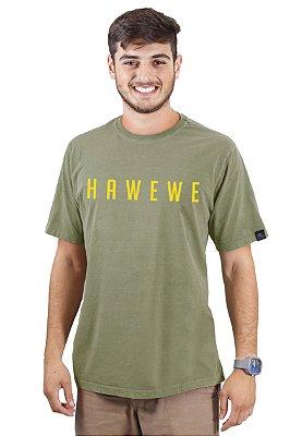 Camiseta Hawewe Surf Verde e Amarelo