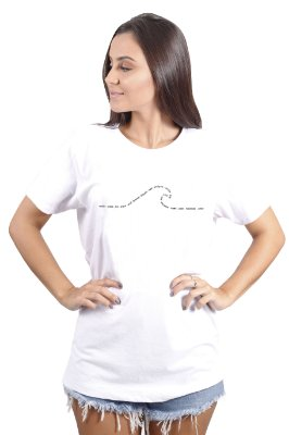 Camiseta Hawewe Summer Wave Branca