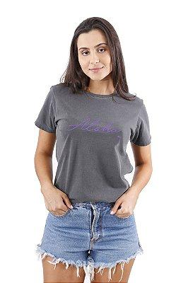 Camiseta Hawewe Aloha Lilás Estonada