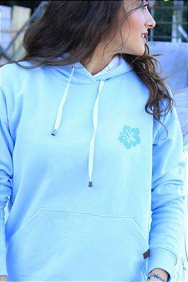 Moletom Hawewe Hibisco Azul