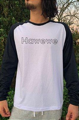 Camiseta Raglan Manga Longa Hawewe Preta