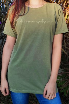 Camiseta Hawewe Preserve Verde Estonada