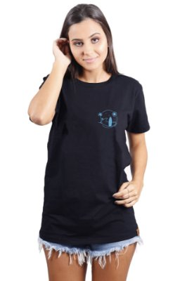 Camiseta Hawewe Surf Beach Preta