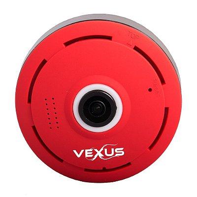 Câmera Ip 360 graus Vermelha Vexus VX-3601