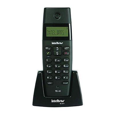 Telefone s/ Fio Intelbras c/ Dect TS 40 ID