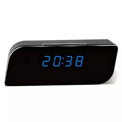 Relogio Camera Ip Wifi c/Visão Noturna + Grava 24 Horas