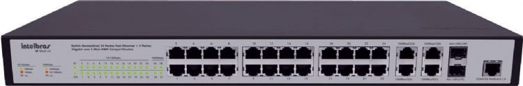 Switch  SF 2842 MR 24 Portas Gerenciavel Fast Ethernet - Intelbras