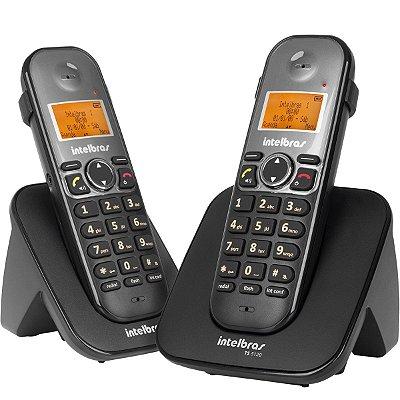 Telefone Sem Fio Intelbras TS 5122 com Ramal Preto