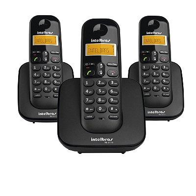 Telefone Sem Fio Intelbras TS 3113 + 2 Ramais