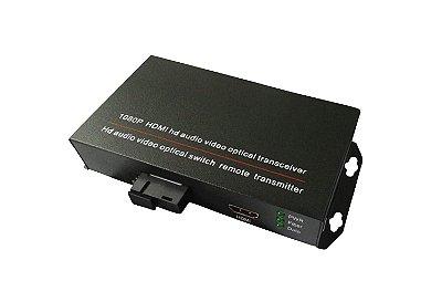 CONVERSOR DE MÍDIA HDMI 1080P FIBRA ÓPTICA ÚNICA MONOMODO