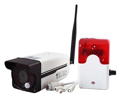 Câmera ip HD Externa VX 1600 Vexus Wifi Com Sensor e Sirene