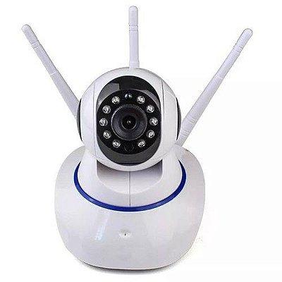 Câmera IP 360 graus com infravermelho, microfone e auto-falante