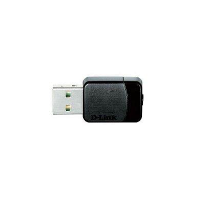 Adaptador Nano Wireless USB D-Link DWA-171 AC600 Dual Band