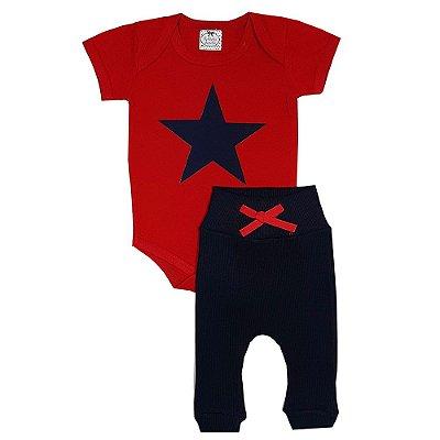Conjunto Bebê Estrela Vermelha