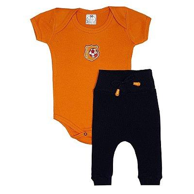 Conjunto Bebê Soccer Laranja