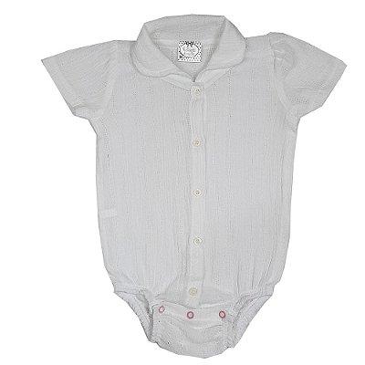 Body Bebê Tecido Branco