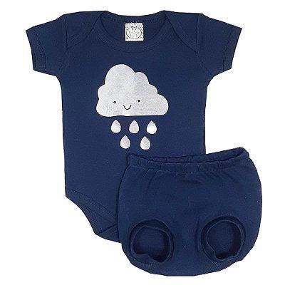 Conjunto Bebê Nuvem Azul Marinho