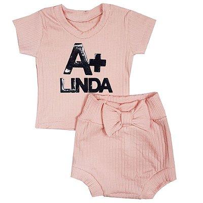 Conjunto Bebê A+ Linda Rosa
