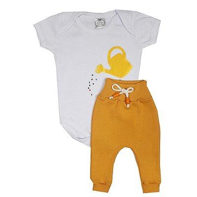 Conjunto Bebê Regador Amarelo