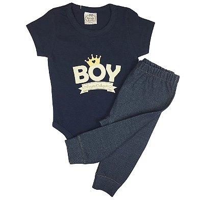 Conjunto Bebê Body e Calça Boy