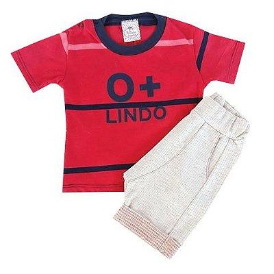 Conjunto Bebê Camiseta e Shorts Saruel