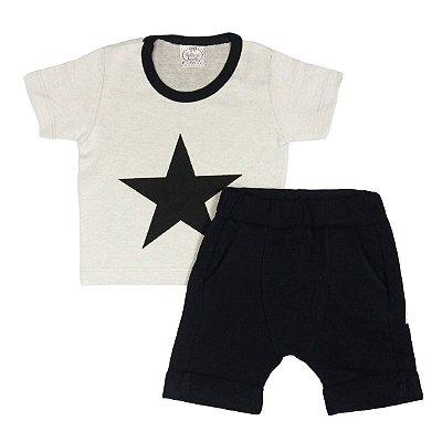 Conjunto Bebê Camiseta e Shorts Saruel Estrela