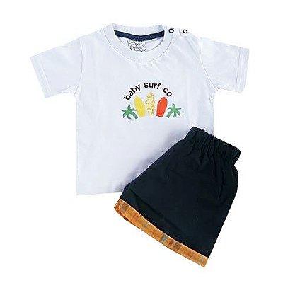 Conjunto Bebê Camiseta com Shorts Tactel