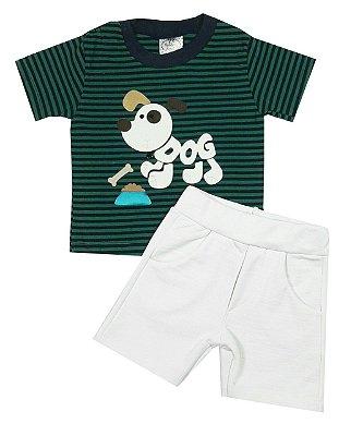 Conjunto Bebê Camiseta e Shorts Dog