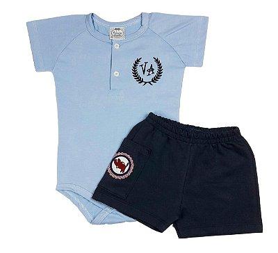 Conjunto Bebê Body Polo e Shorts VA