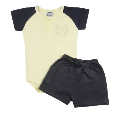 Conjunto Bebê Body Polo e Shorts