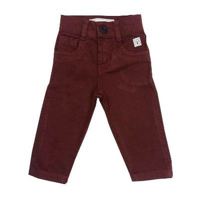 Calça Infantil Jeans Bordô