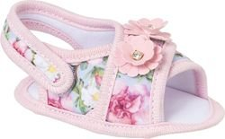 Sandália Bebê Rosa Floral