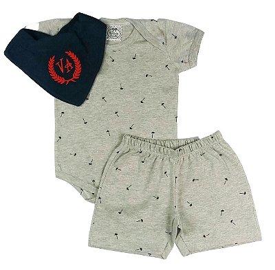 Pijama Bebê Body com Shorts