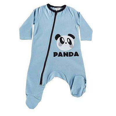 Macacão Bebê De Inverno Manga Longa de Pezinho E Zipper