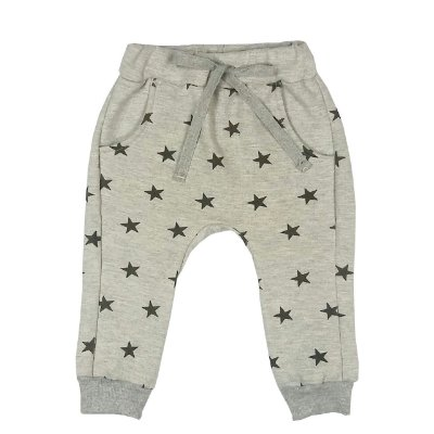 Calça Bebê Saruel De Moletom Estrelas
