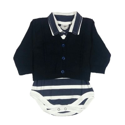 Cardigan + Body Polo Listras