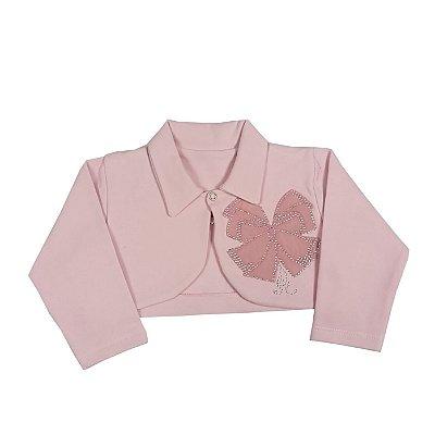 Bolero Infantil Laços Rosa