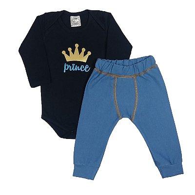 Conjunto Bebê Prince Azul