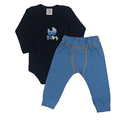 Conjunto Bebê Body Baby + Calça Boxer