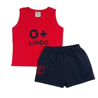Conjunto Bebê Regata O + Lindo Com Shorts