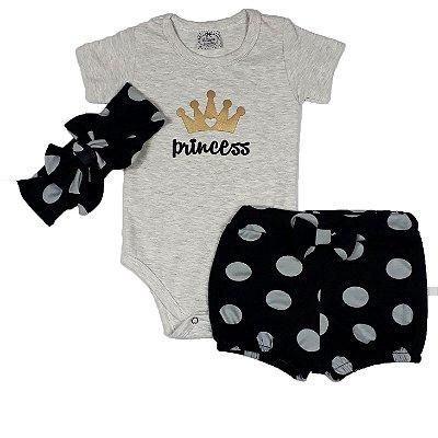 Conjunto Bebê Princess + Turbante