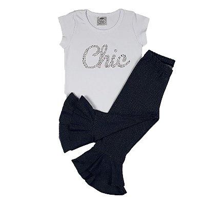 Conjunto Infantil Chic + Calça Mini Diva