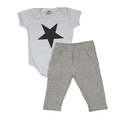 Conjunto Bebê Bodye Estrela + Calça