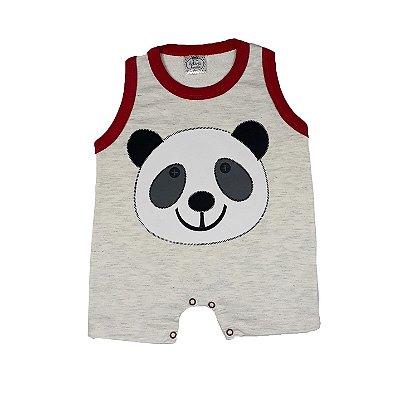 Macacão Bebê Panda Vermelho