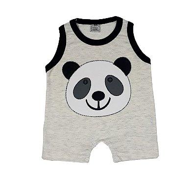 Macacão Bebê Panda Preto