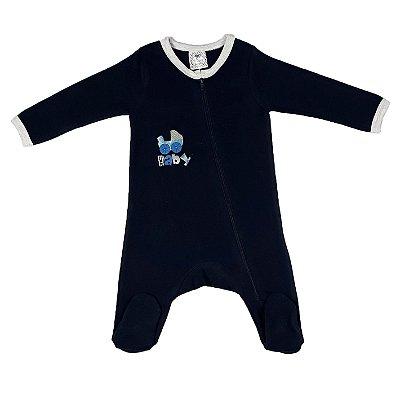 Macacão Bebê Baby Marinho
