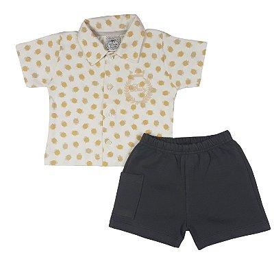 Conjunto Bebê Polo + Shorts