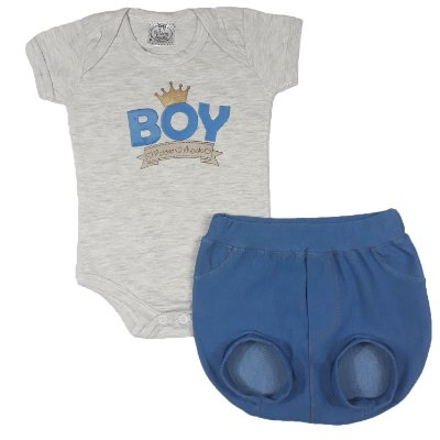 Conjunto Bebê Tapa Fralda Boy Azul