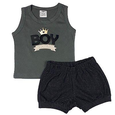 Conjunto Bebê Regata Boy + Shorts