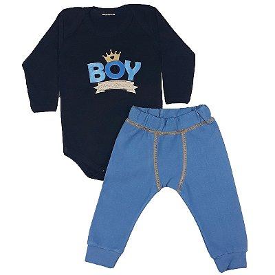 Conjunto Bebê Boy + Calça Boxer